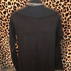 Black off the shoulder sweater top Nwot small